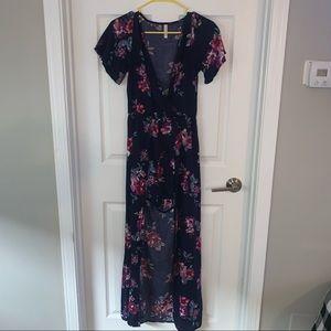 Blue Floral Raxi Dress